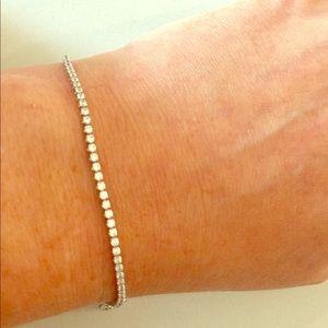 Tiny Cubic Zirconia Tennis Bracelet